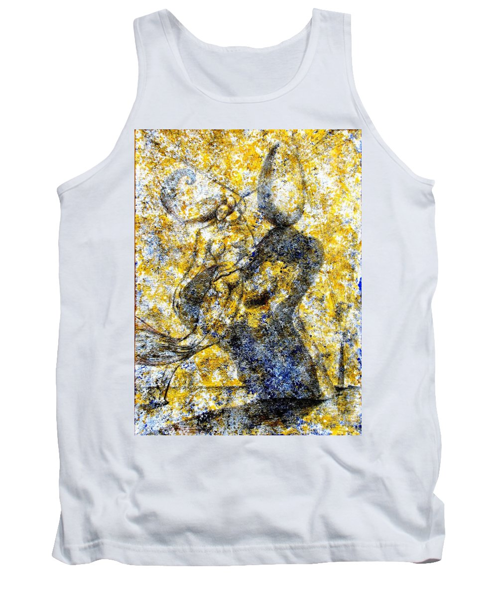 Inga Vereshchagina Tank Top featuring the painting Infusion by Inga Vereshchagina