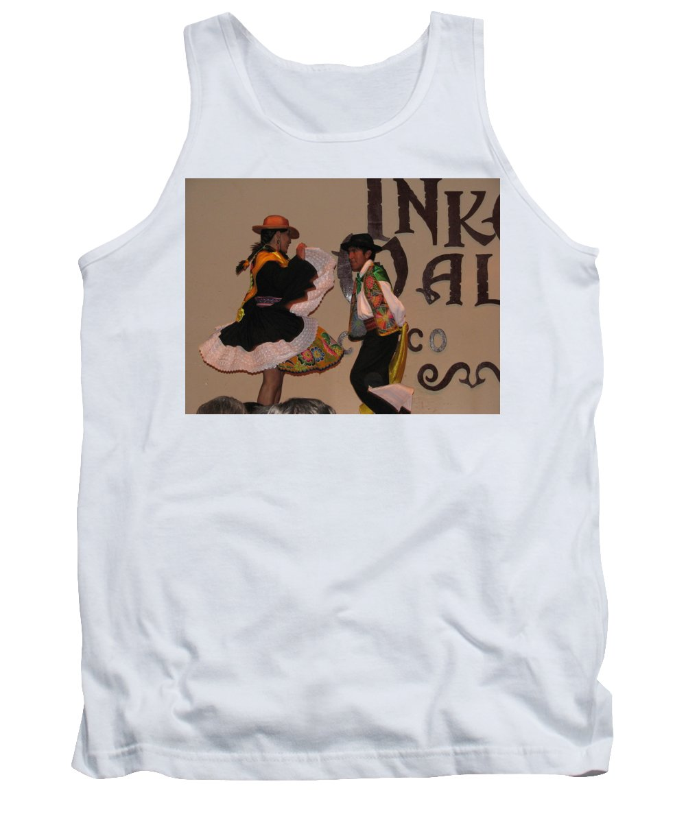 Portrait Tank Top featuring the photograph Inka Dancers by Sandra Bourret