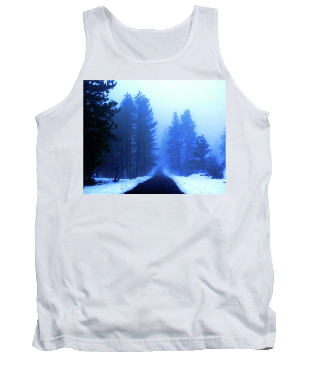 Photo Art Tank Top featuring the photograph Into The Misty Unknown by Ben Upham III