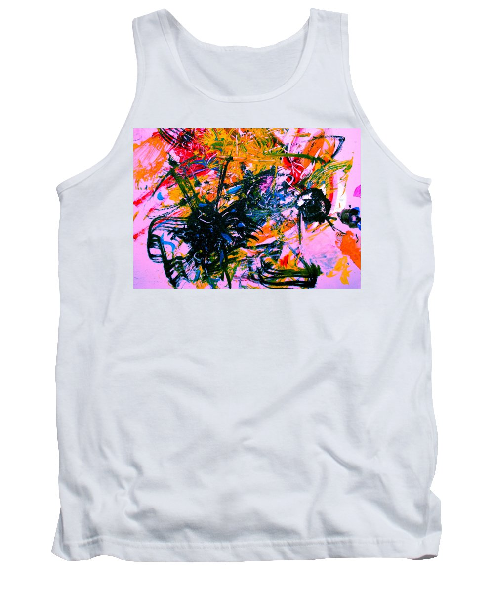 Abstract Tank Top featuring the painting Intrigue by Natalie Holland