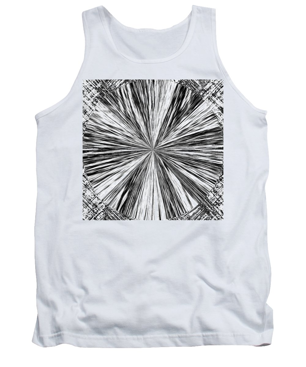 Black & White Tank Top featuring the digital art Introspective by Will Borden