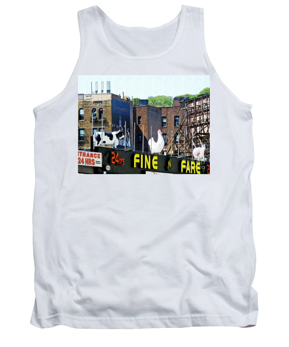 Statue Tank Top featuring the photograph Inwood Farm by Sarah Loft