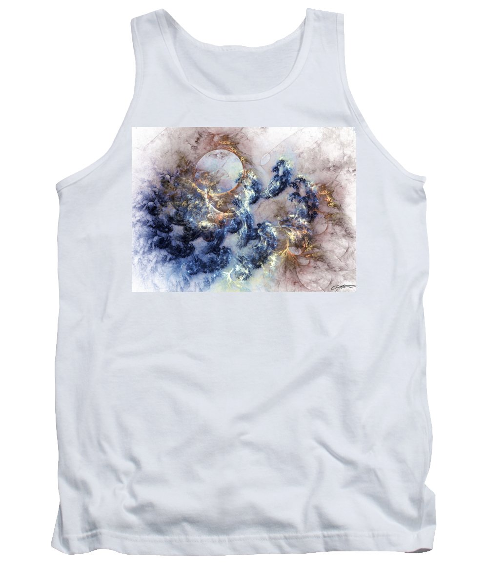 Abstract Tank Top featuring the digital art Ion Storm by Casey Kotas