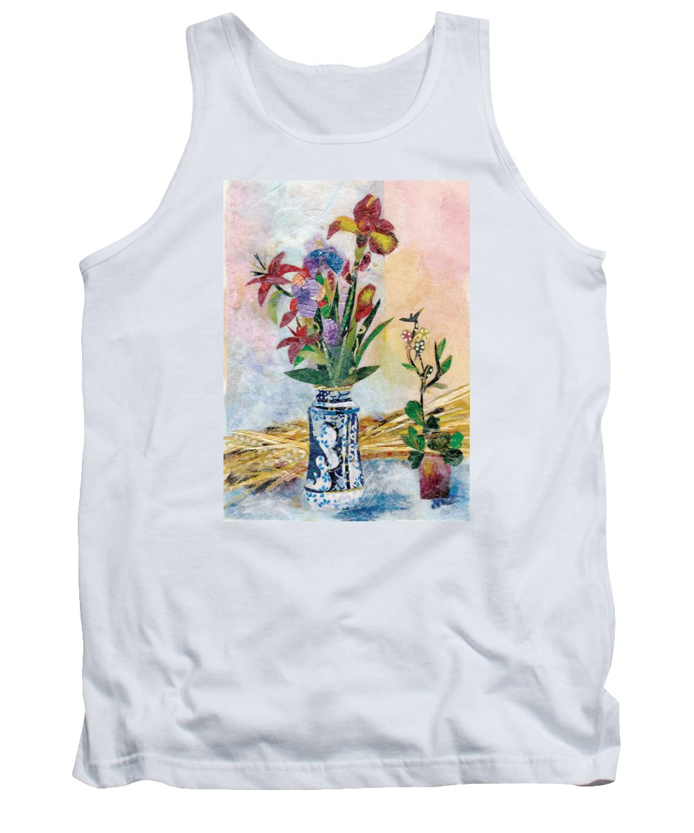 Limited Edition Prints Tank Top featuring the painting Iris by Nira Schwartz