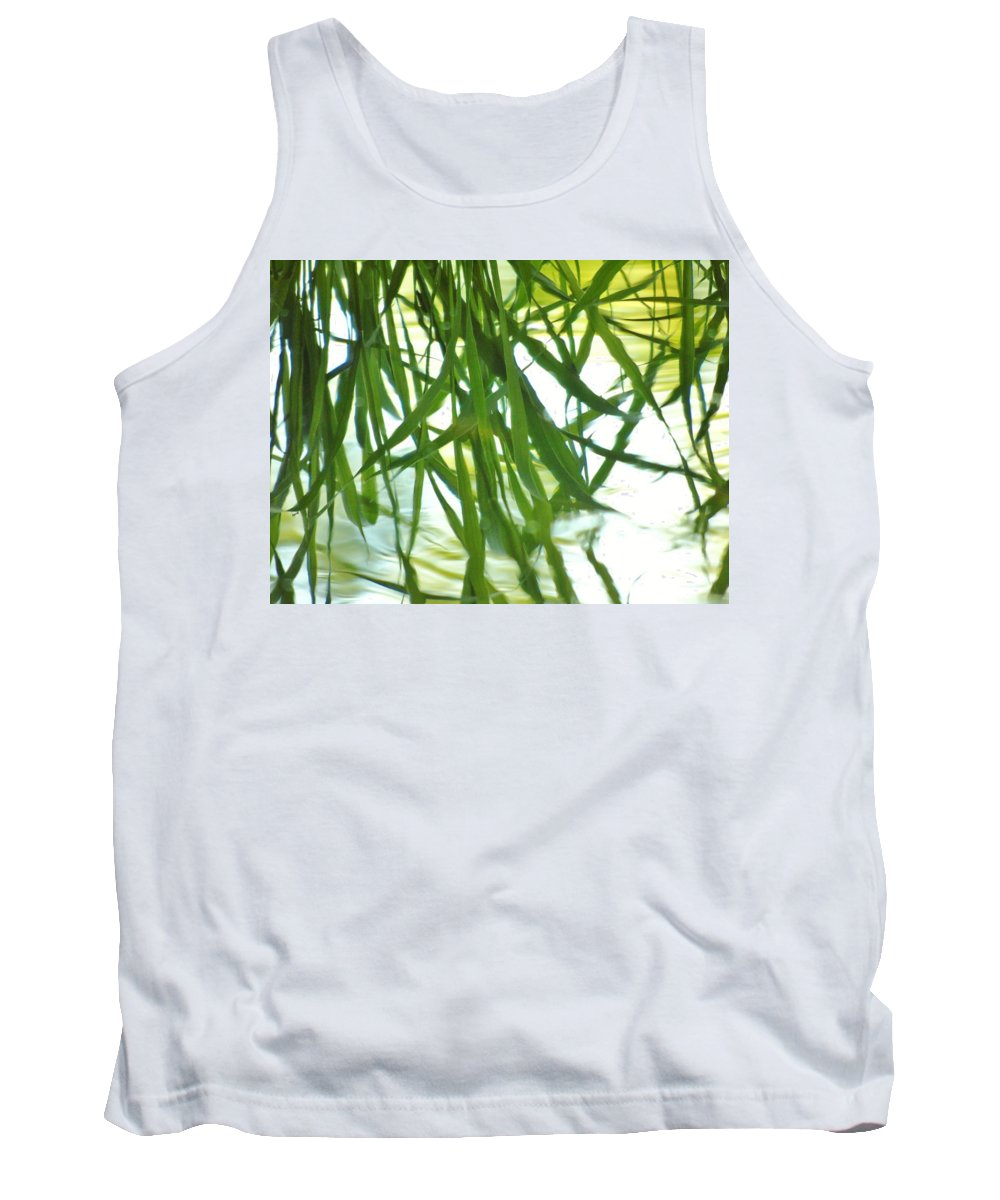Iris Tank Top featuring the photograph Iris Reflections by Barbara St Jean