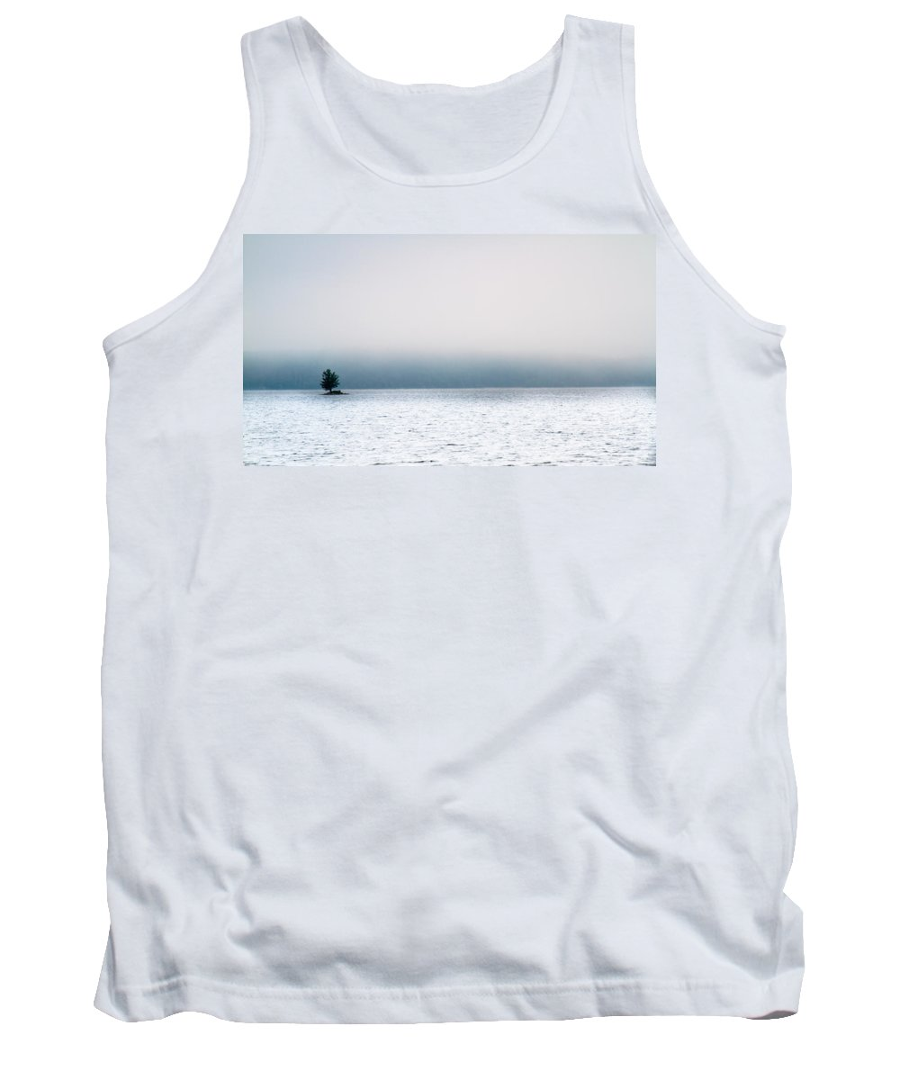 Auburn Tank Top featuring the photograph Island In The Fog by Bob Orsillo