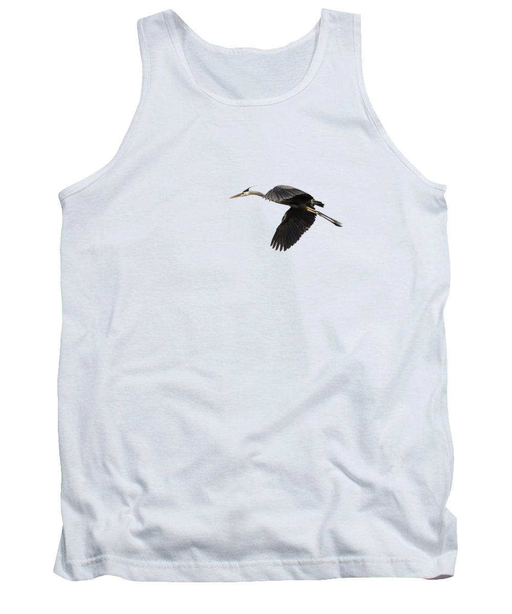 Great Blue Heron Tank Top featuring the photograph Isolated Great Blue Heron 2015-1 by Thomas Young