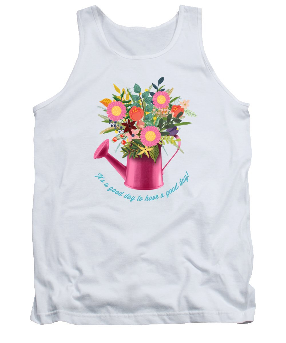 Painting Tank Top featuring the painting It Is A Good Day To Have A Good Day by Little Bunny Sunshine