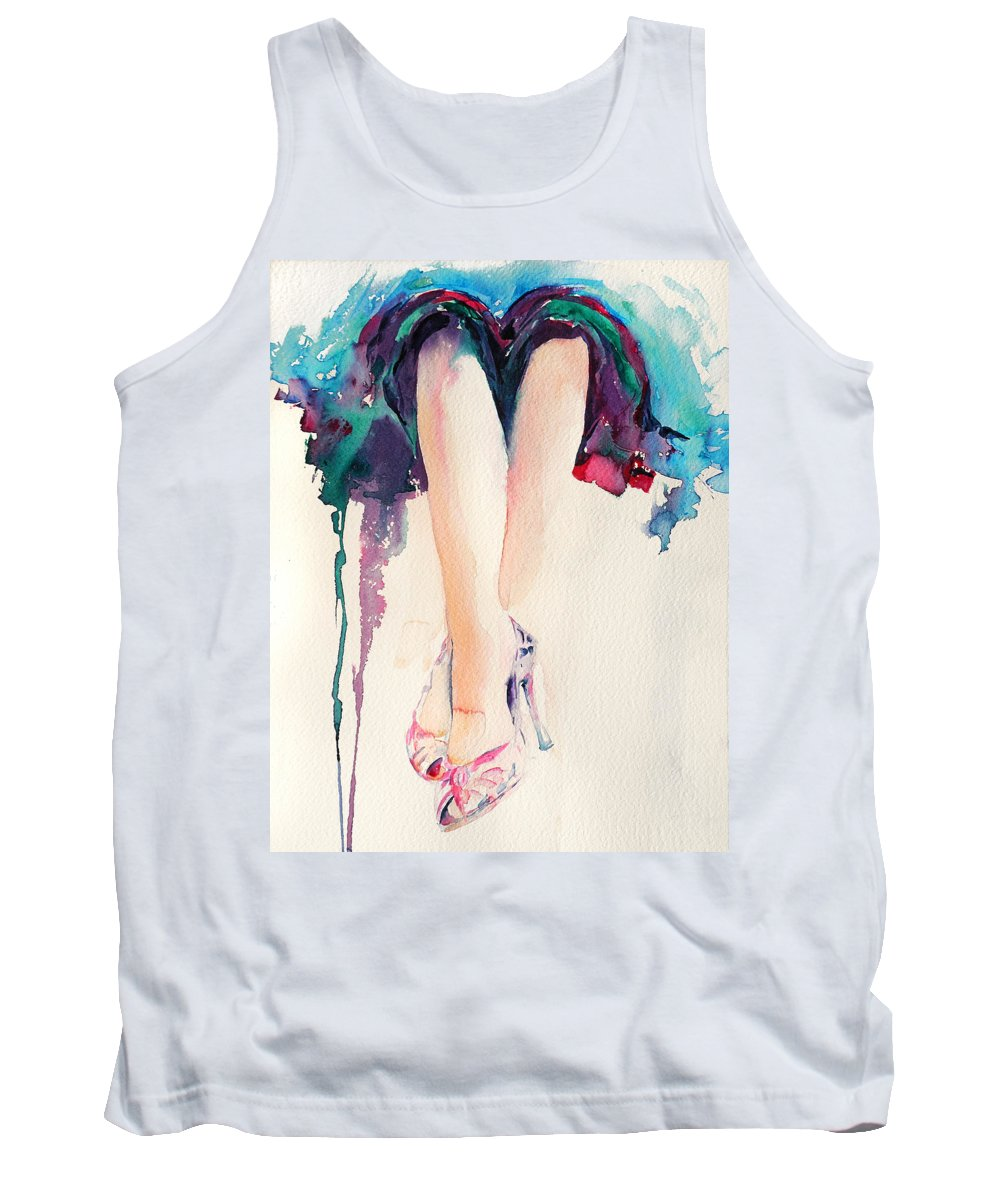 Legs Tank Top featuring the painting It's Party Time by Stephie Butler