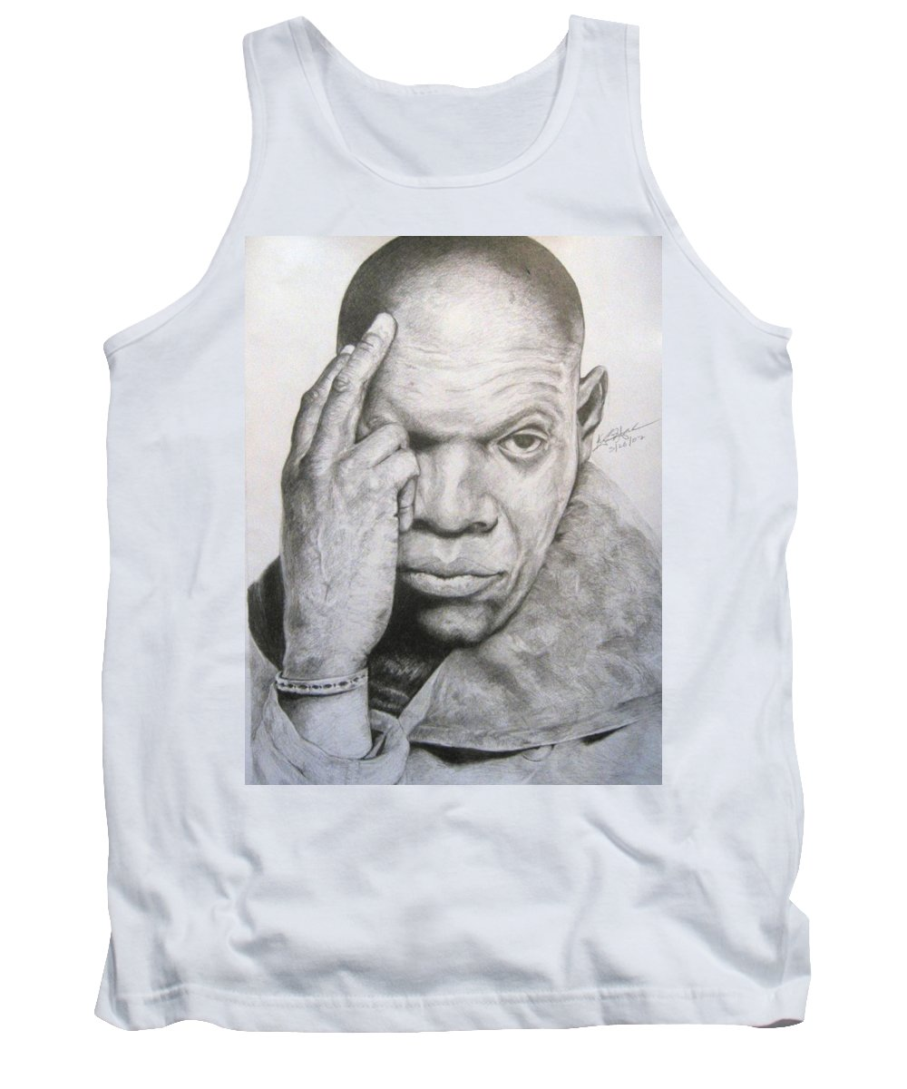 Portrait Tank Top featuring the drawing Jackson By Kyle Anderson by Joyce Owens