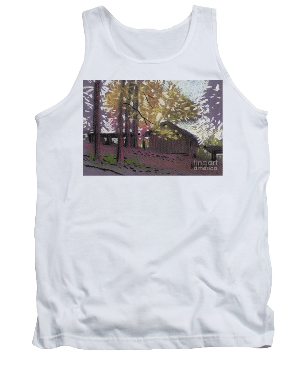 Pastel Tank Top featuring the drawing James's Barns 9 by Donald Maier