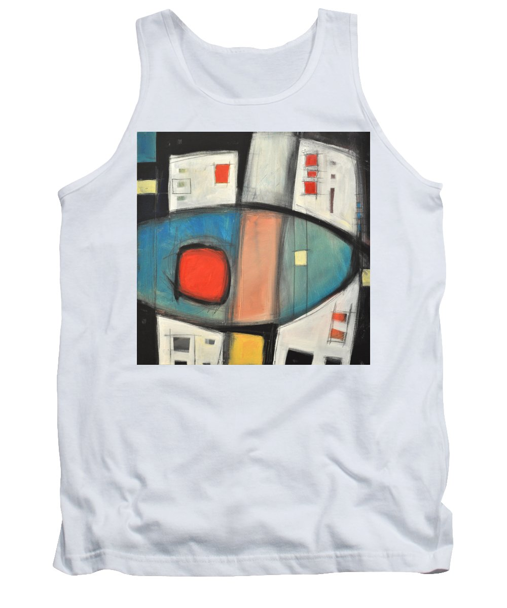 Abstract Tank Top featuring the painting Jazz Improv 081510a by Tim Nyberg