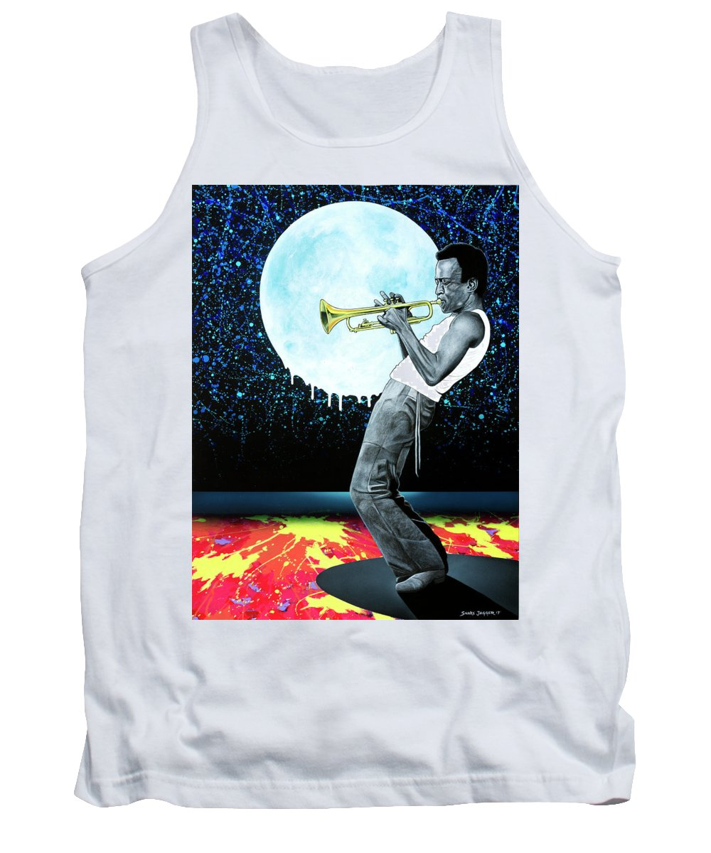Miles Tank Top featuring the painting Jazzman by Snake Jagger