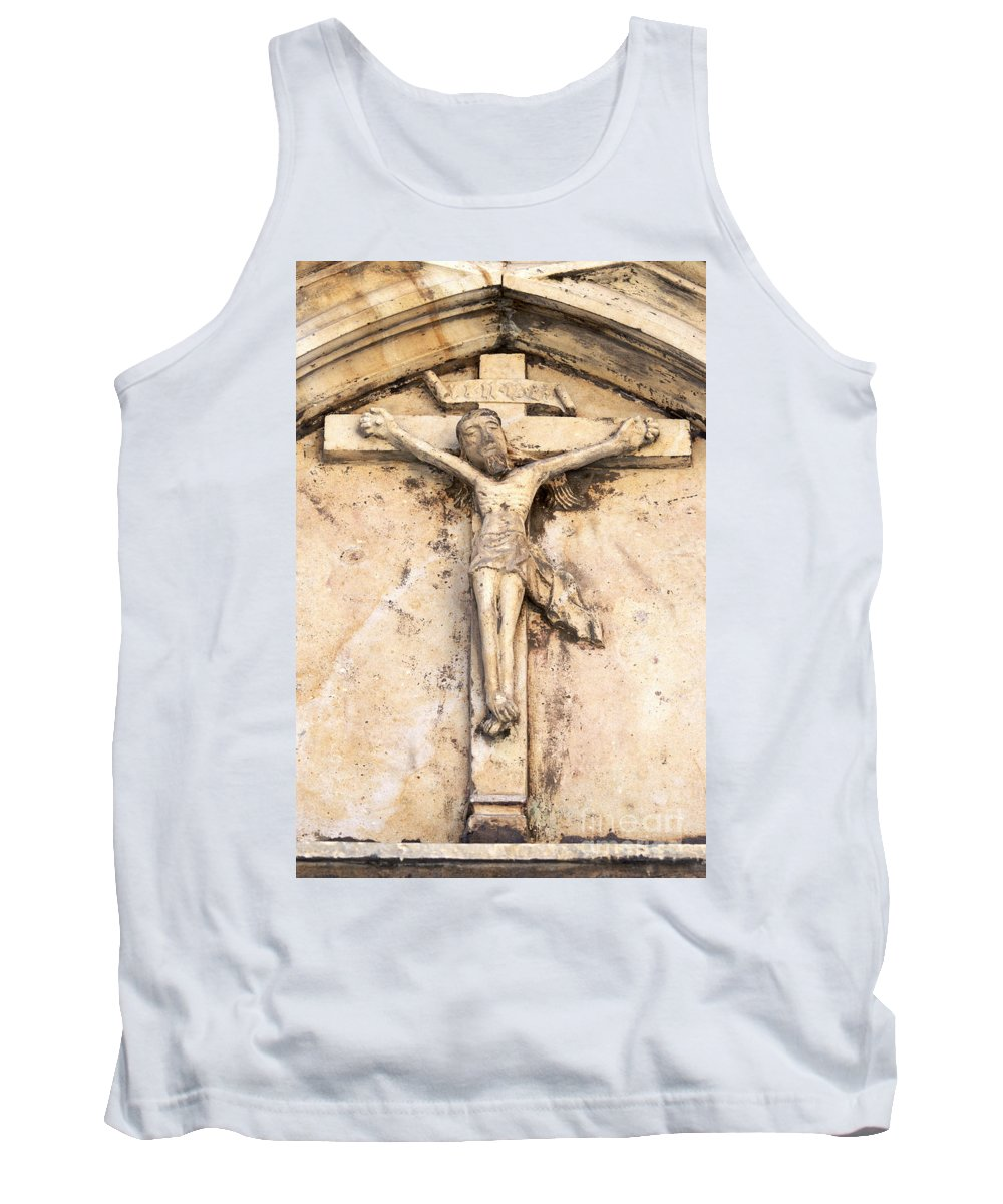Crucified Tank Top featuring the photograph Jesus by Michal Boubin