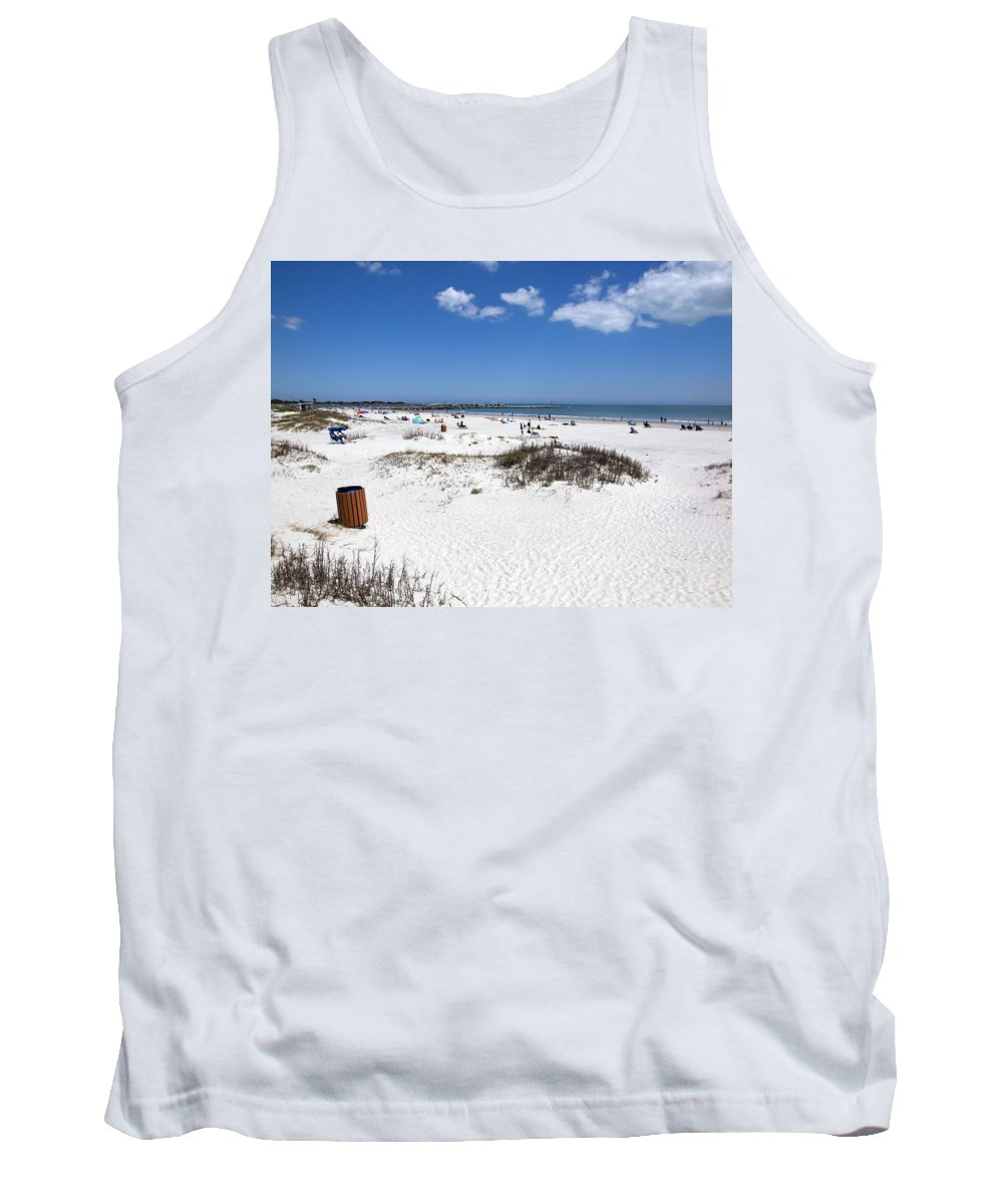 Florida Tank Top featuring the photograph Jetty Park At Cape Canaveral In Florida Usa by Allan Hughes
