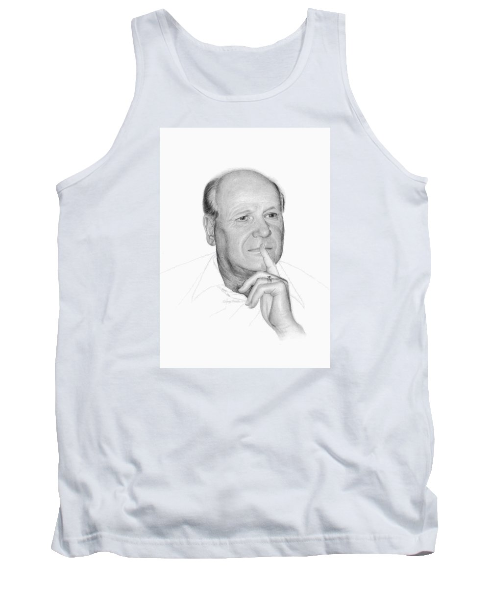 Portrait Tank Top featuring the drawing Jim by Conrad Mieschke