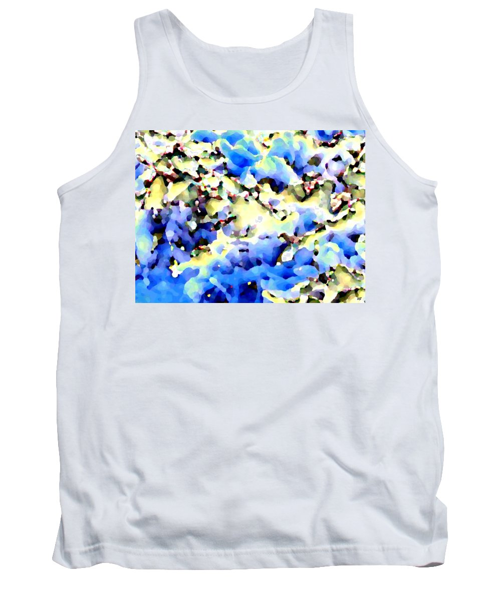 Abstract Tank Top featuring the digital art Jolly Winter Blues by Will Borden