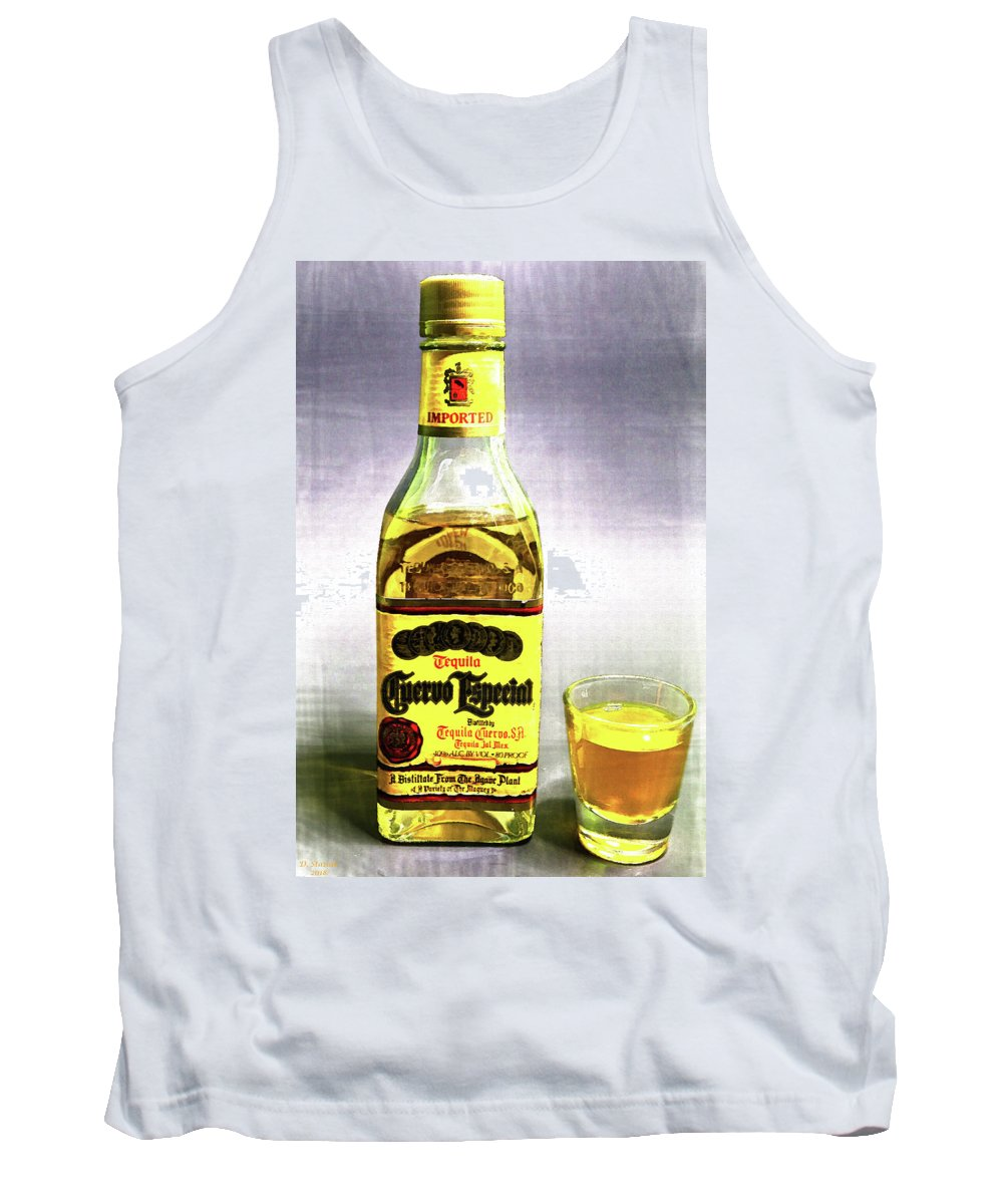 Jose Cuervo Tank Top featuring the digital art Jose Cuervo Shot 2 by David Stasiak