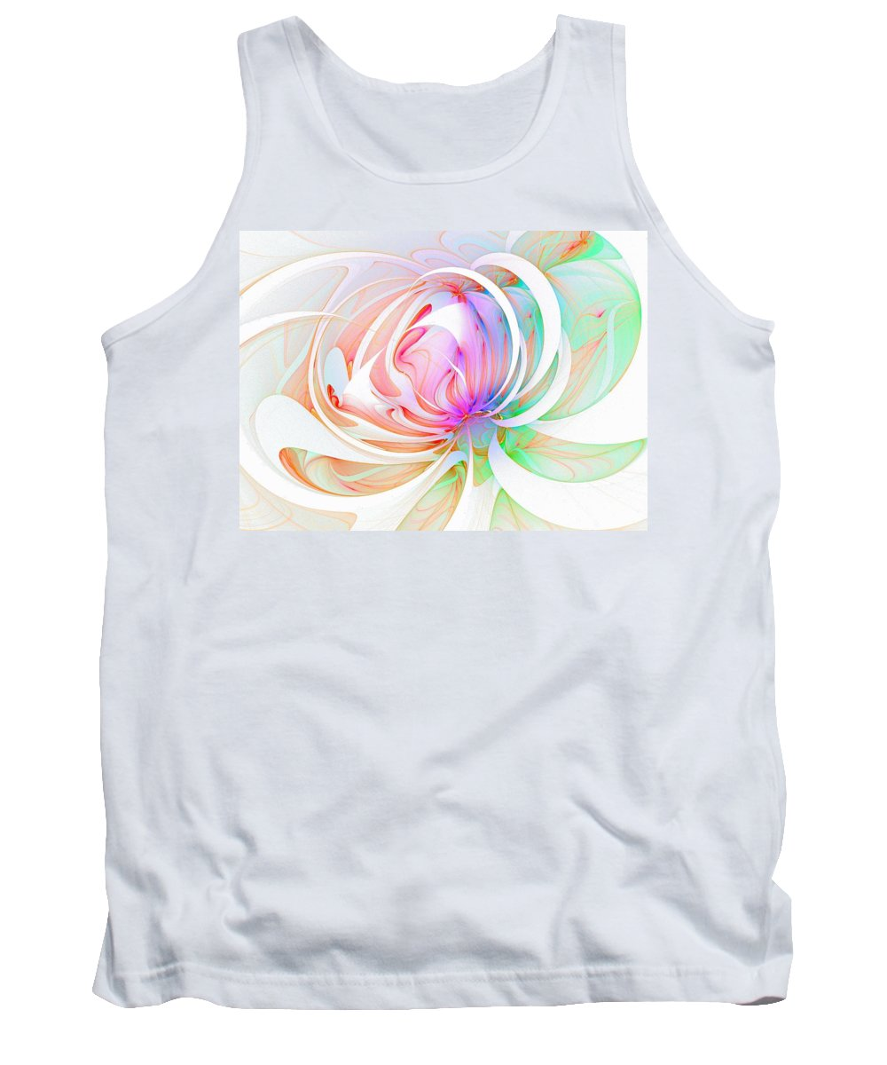 Digital Art Tank Top featuring the digital art Joy by Amanda Moore