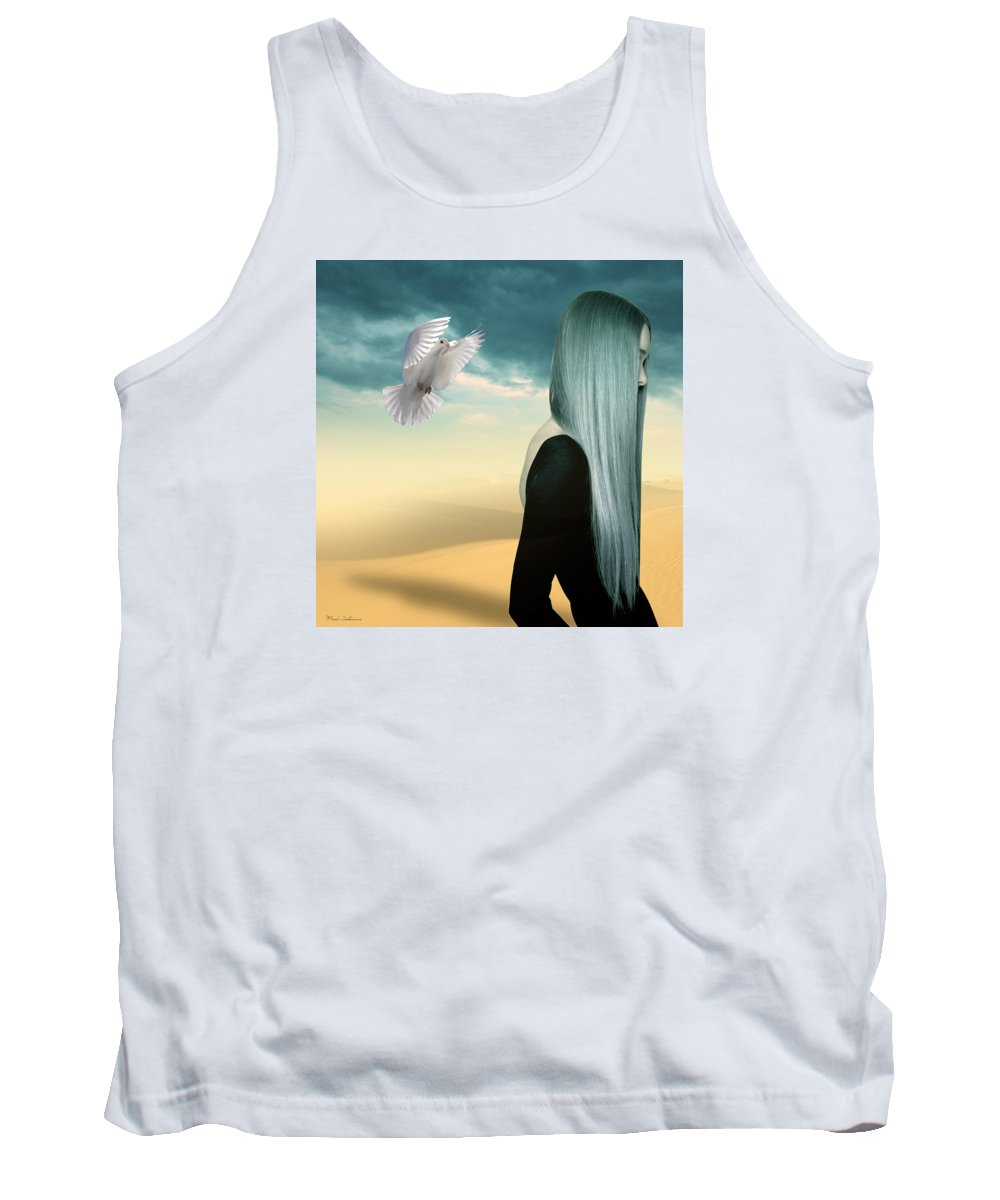 Vintage Tank Top featuring the painting Just Go by Mark Ashkenazi