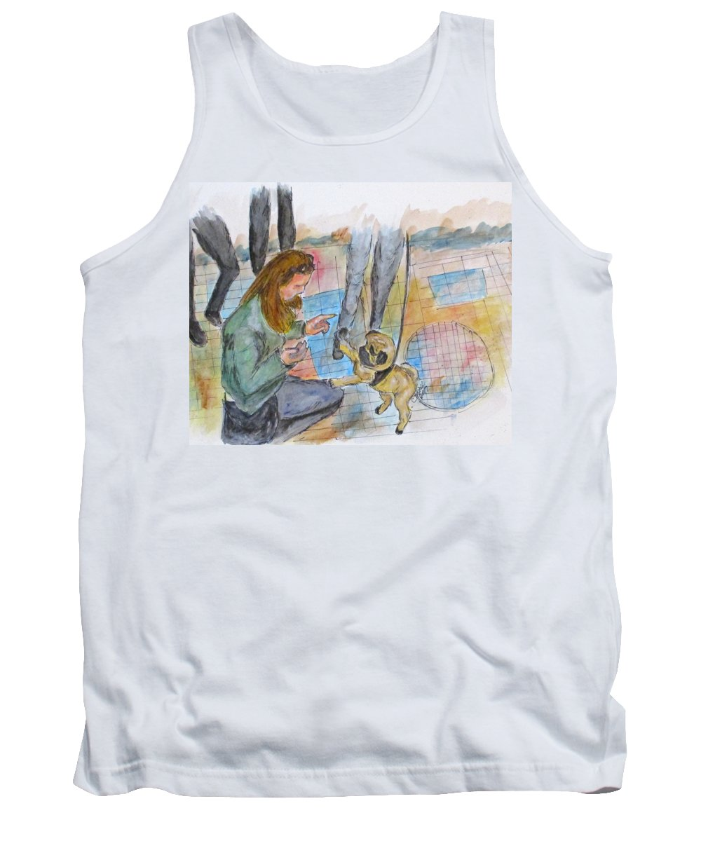 Erika Kell Tank Top featuring the painting Just One More by Clyde J Kell