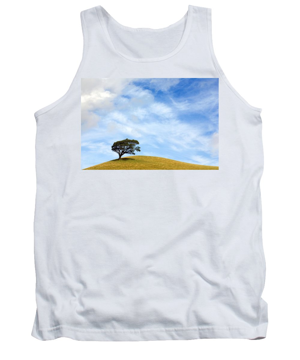 Landscape Tank Top featuring the photograph Just One Tree Hill by Mal Bray