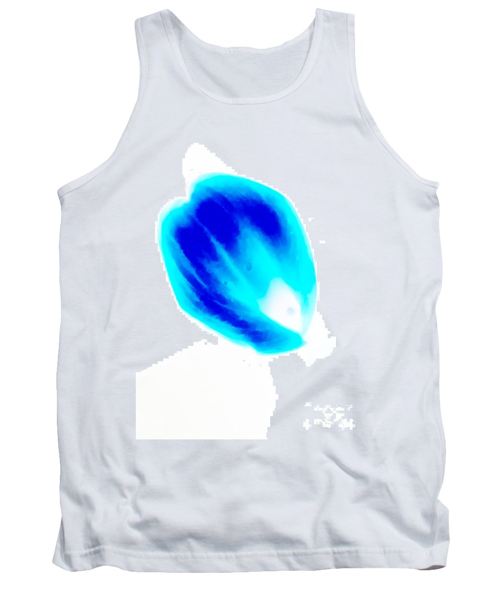 Turquoise Tank Top featuring the photograph Just Turquoise And Blue by Heather Joyce Morrill