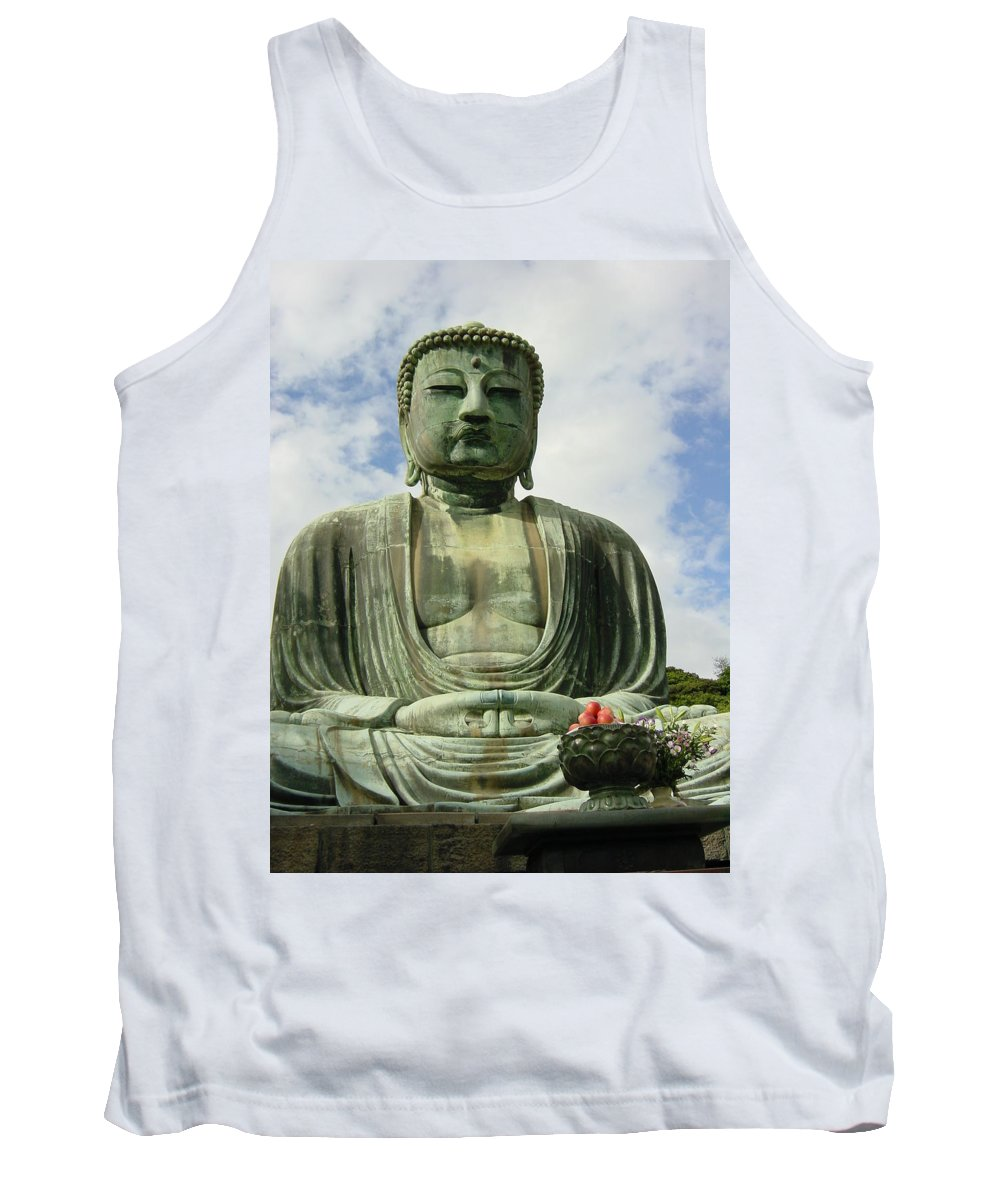 Buddha Tank Top featuring the photograph Kamakura Daibutsu by D Turner