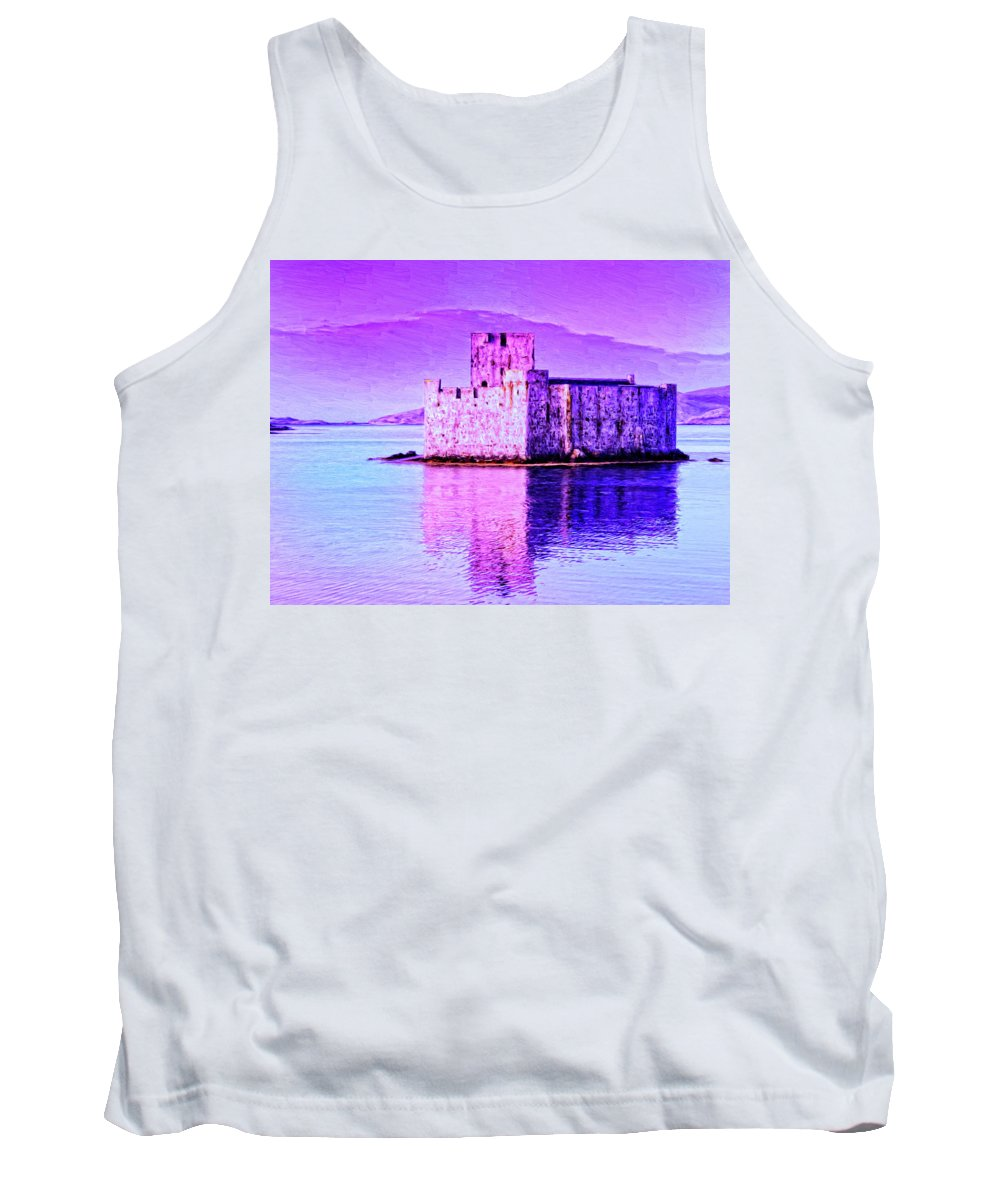 Castle Tank Top featuring the painting Kisimul Castle by Dominic Piperata