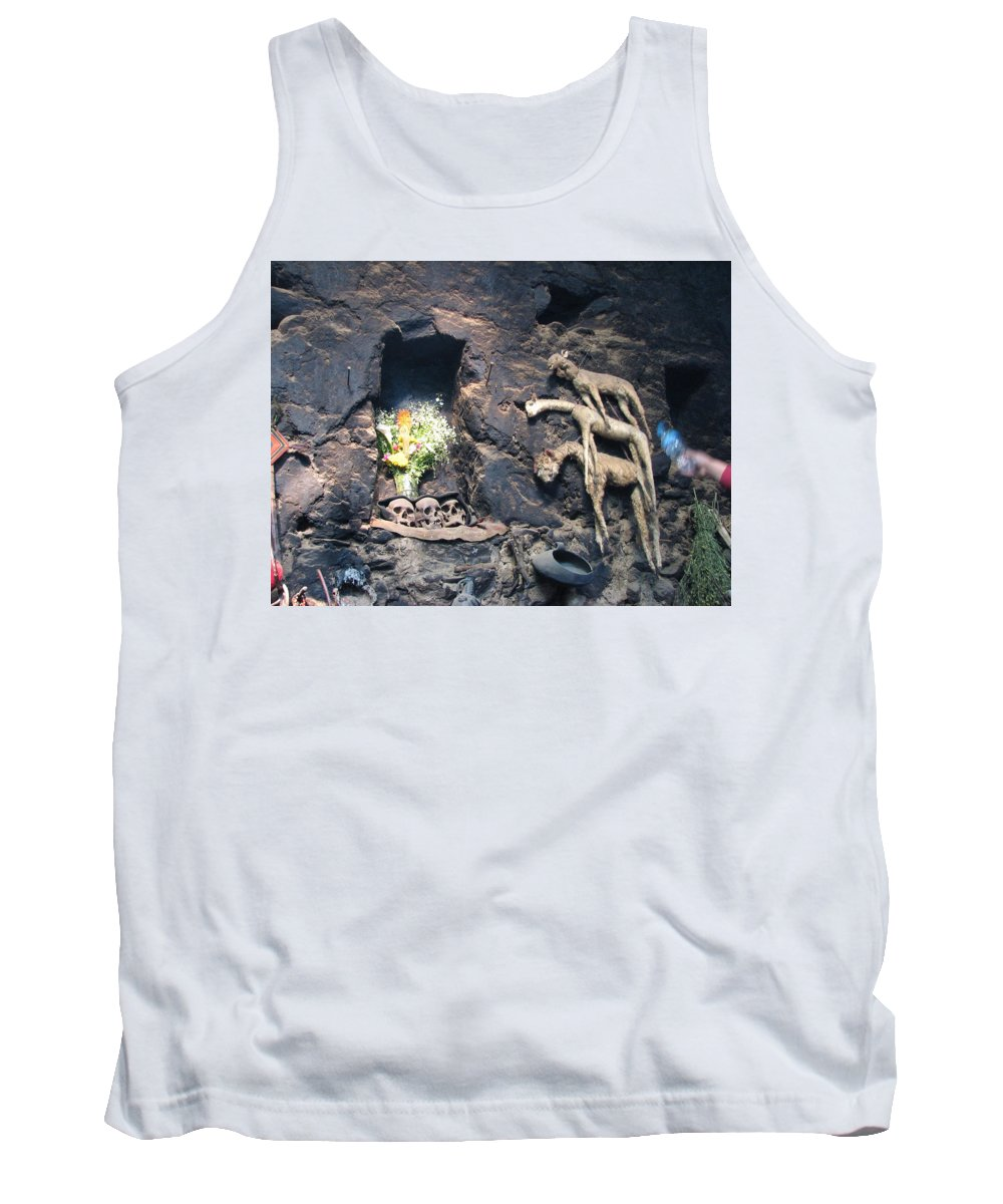 Interior Tank Top featuring the photograph Kitchen Altar by Sandra Bourret