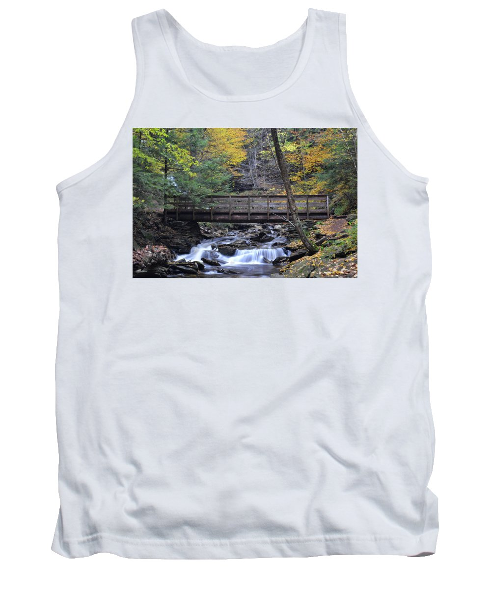 Phil Levee Tank Top featuring the photograph Kitchen Creek Bridge by Philip LeVee