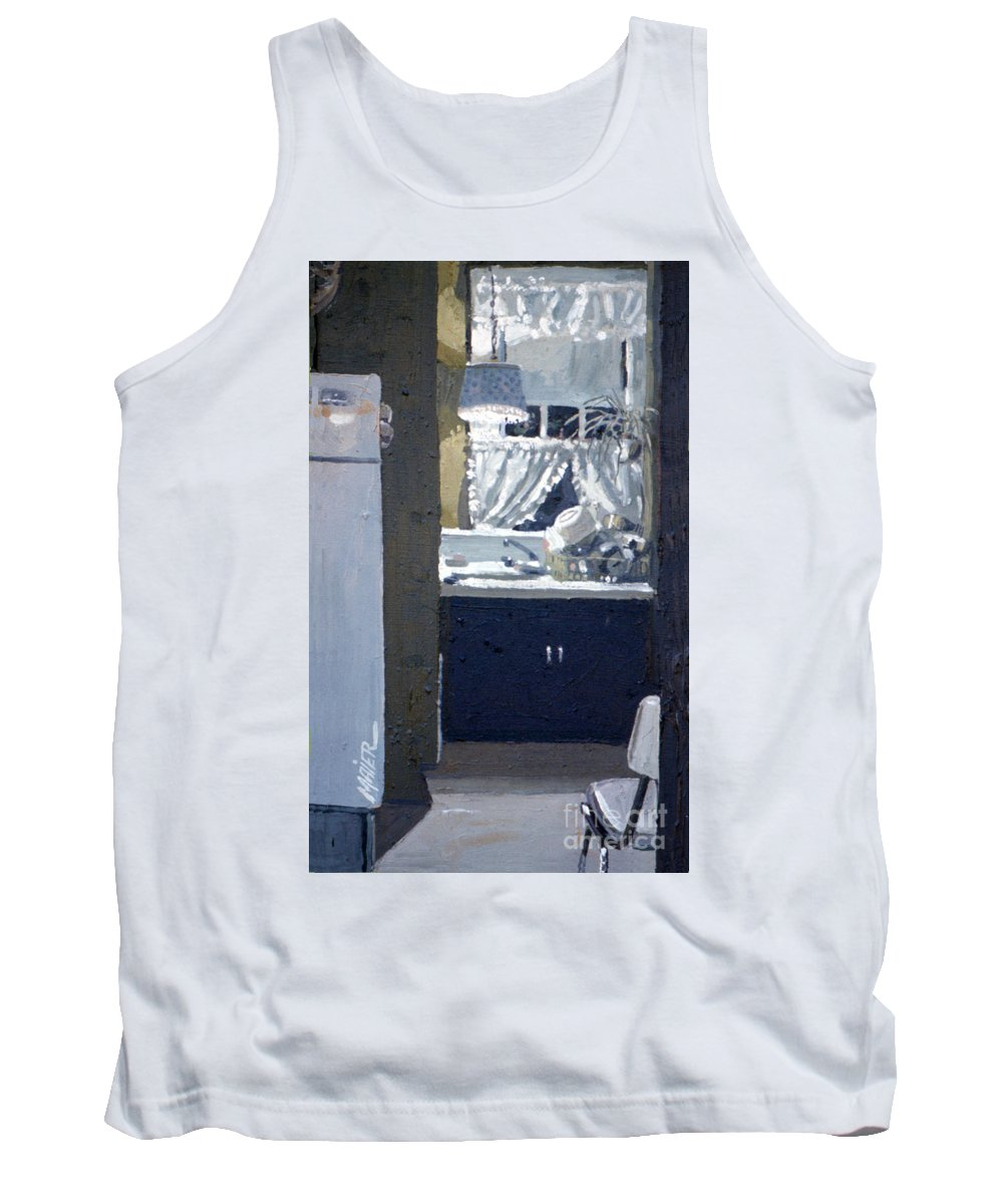 Kitchen Tank Top featuring the painting Kitchen Sink by Donald Maier