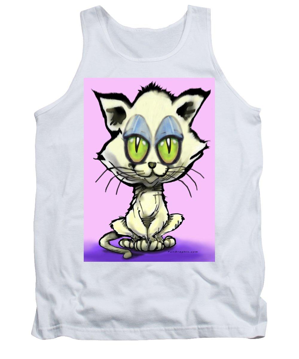 Kitten Tank Top featuring the digital art Kitten by Kevin Middleton