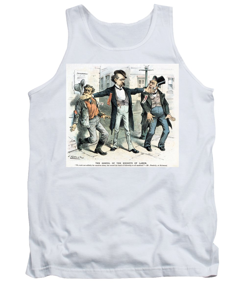 1886 Tank Top featuring the photograph Knights Of Labor: Cartoon by Granger