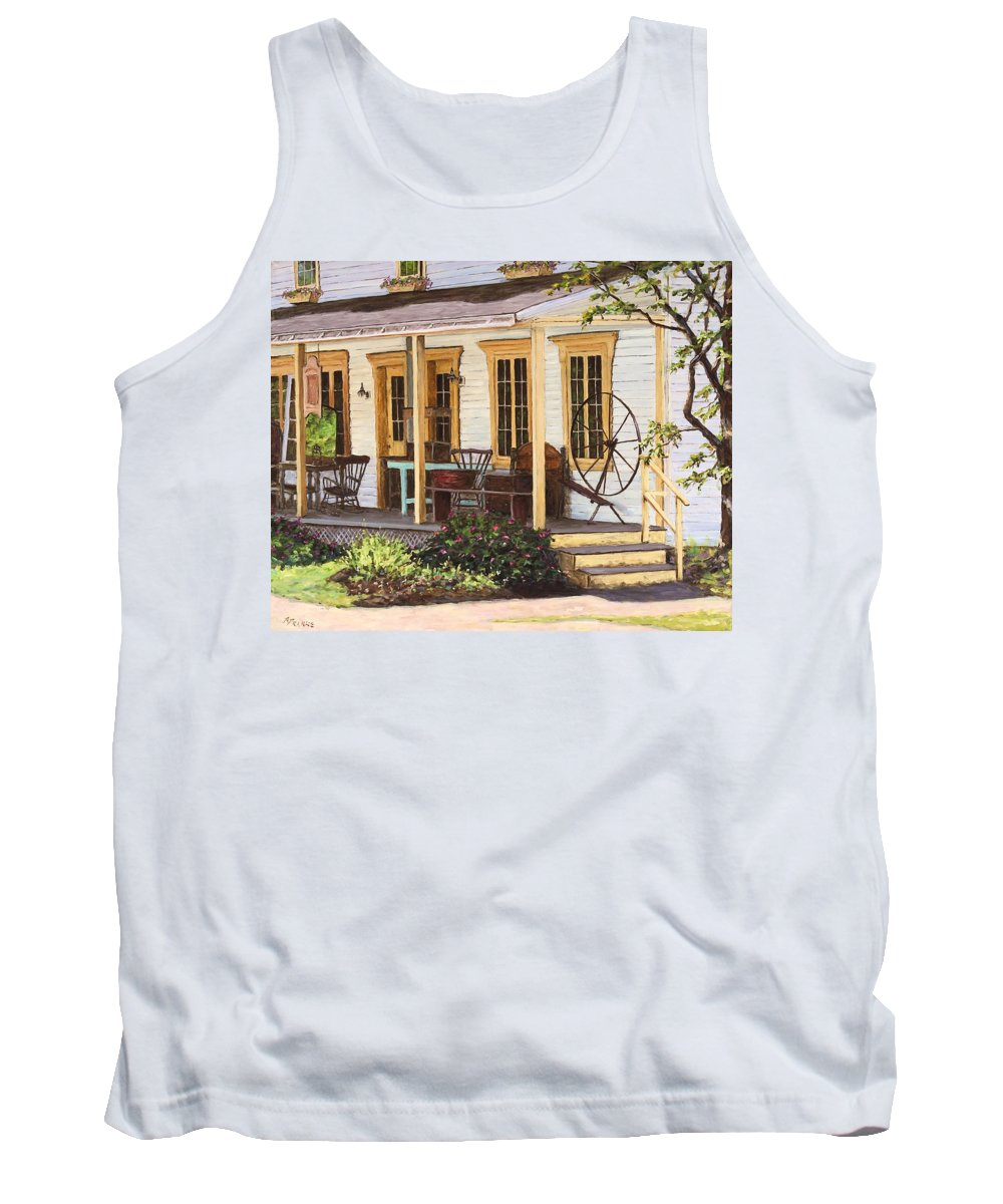 Urban Tank Top featuring the painting Knowlton Lac Brome by Richard T Pranke