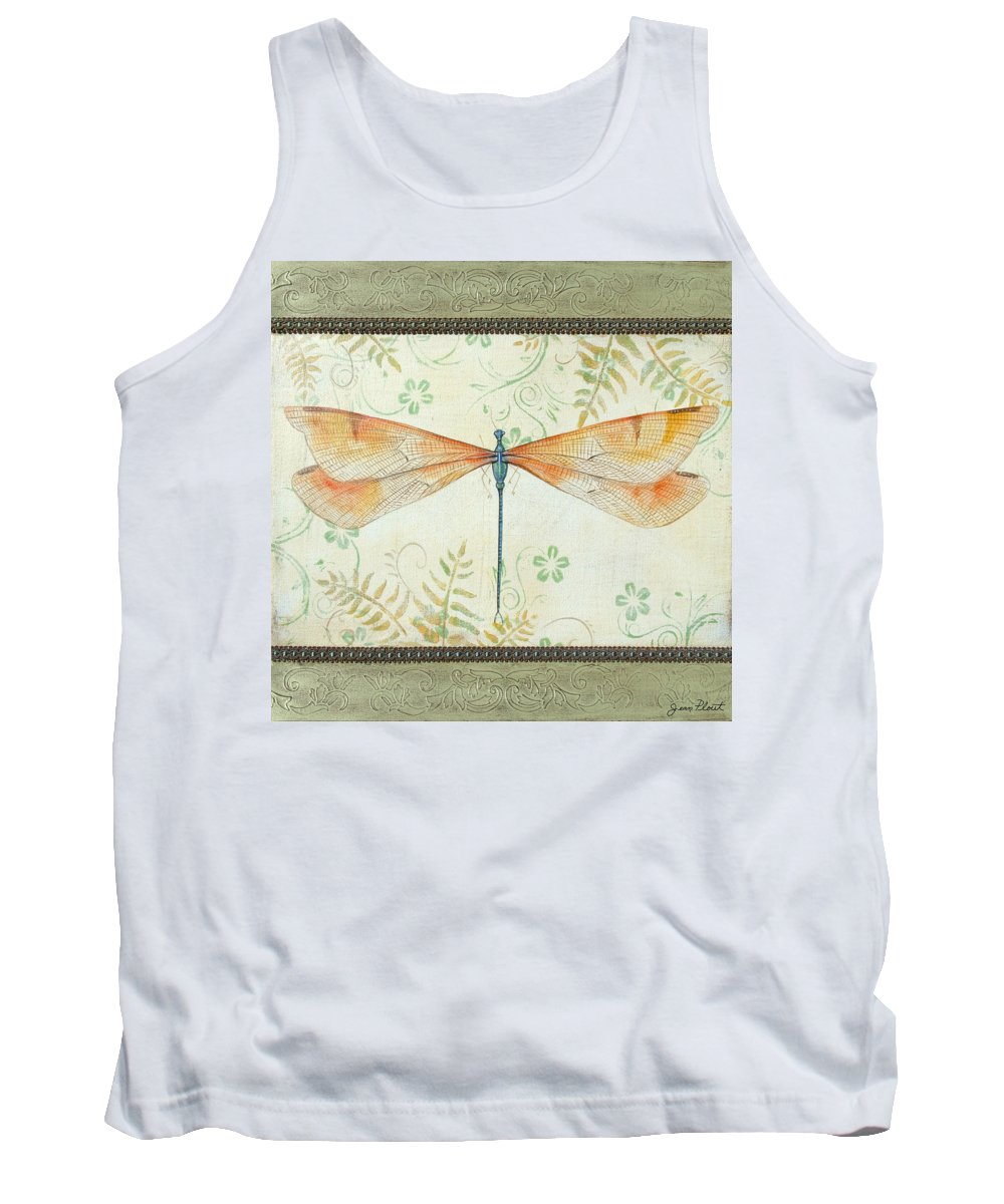Acrylic Painting Tank Top featuring the painting La Sauge Libellule-2 by Jean PLout