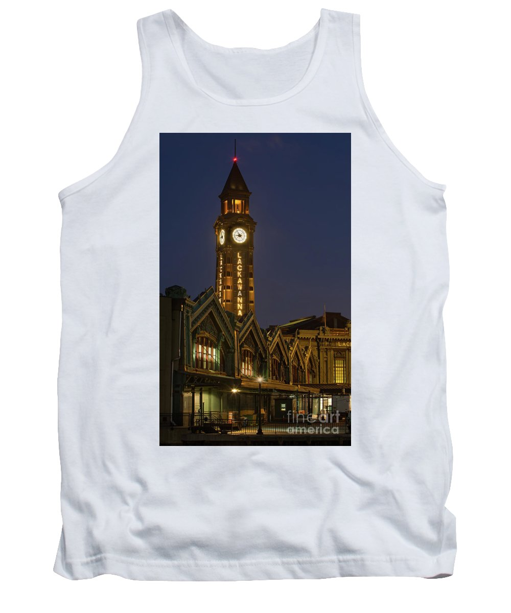 Architecture Tank Top featuring the photograph Lackawanna Clock Tower by Jerry Fornarotto