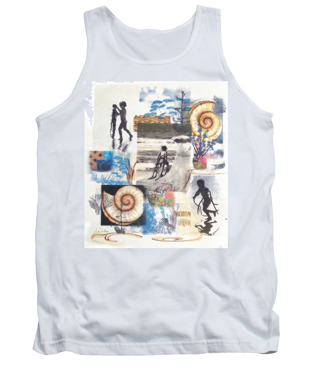 Abstract Tank Top featuring the painting Lajolla by Valerie Meotti