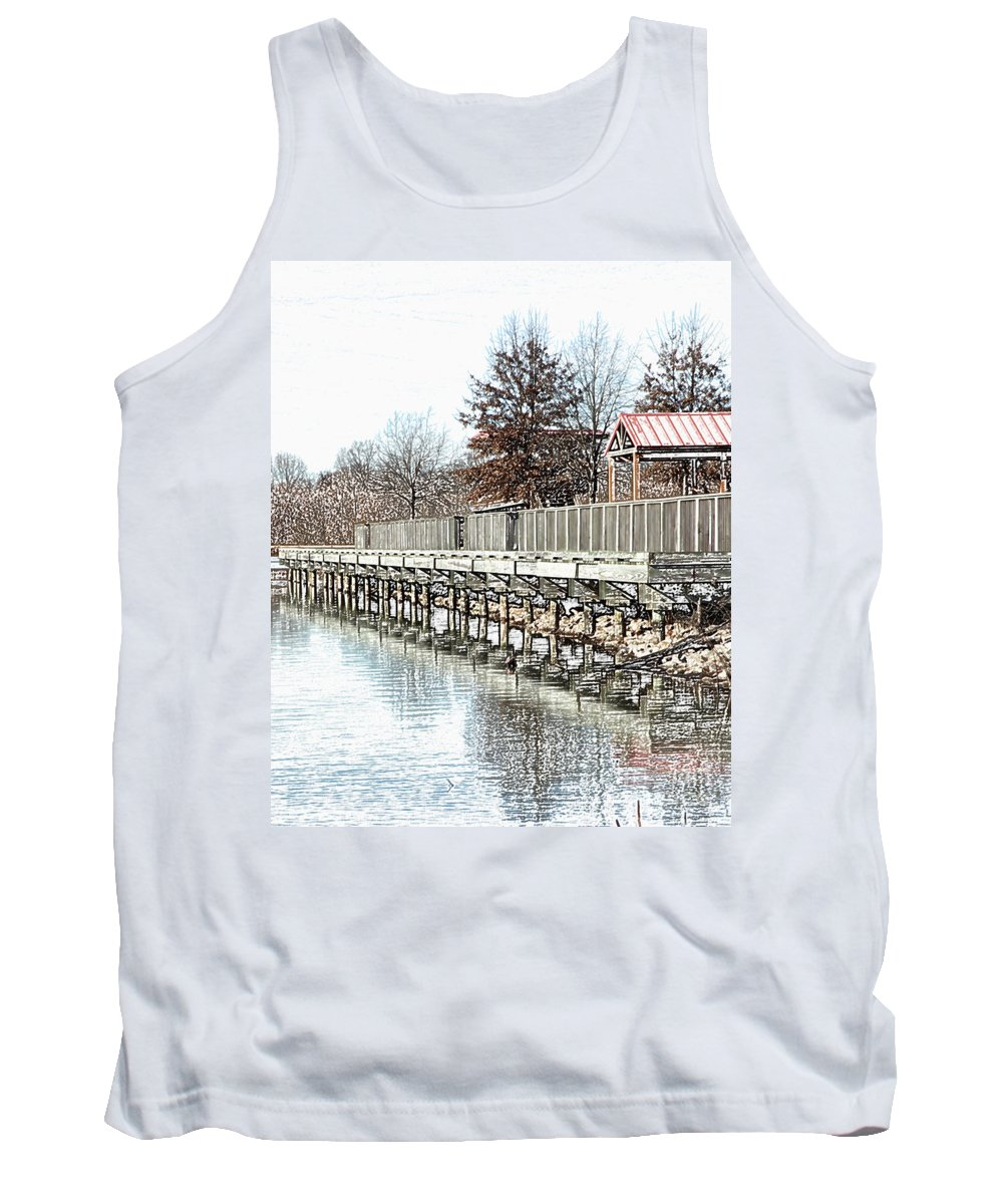 Lakes Tank Top featuring the photograph Lake by Amanda Barcon