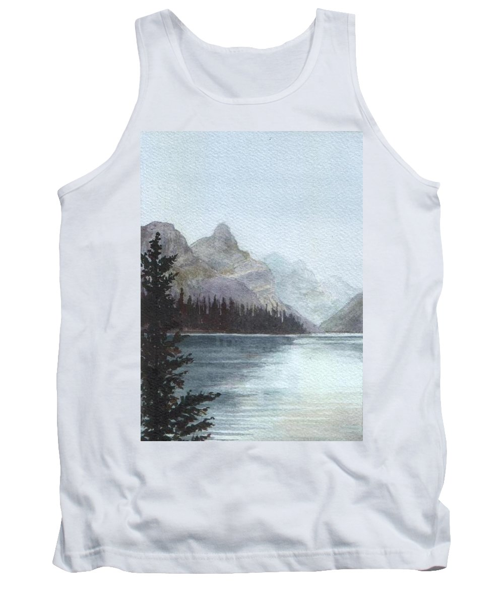 Watercolor Tank Top featuring the painting Lake Helevorn by Brenda Owen