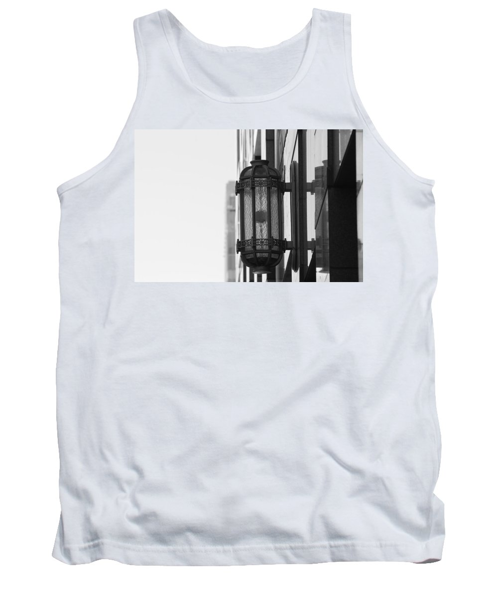 Architecture Tank Top featuring the photograph Lamp On The Wall by Rob Hans