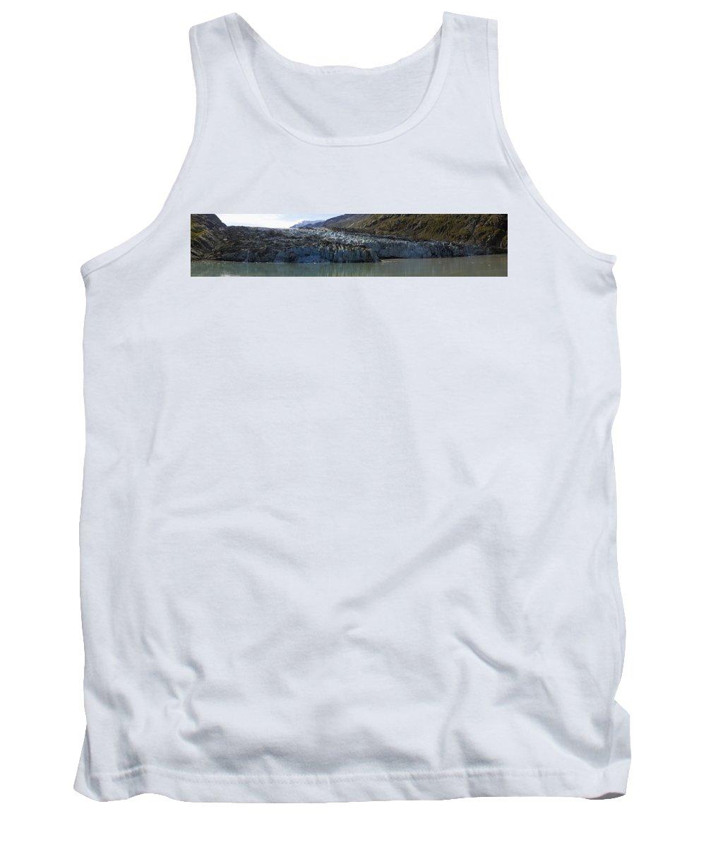 Lamplugh Glacier Tank Top featuring the photograph Lamplugh Glacier by Richard J Cassato
