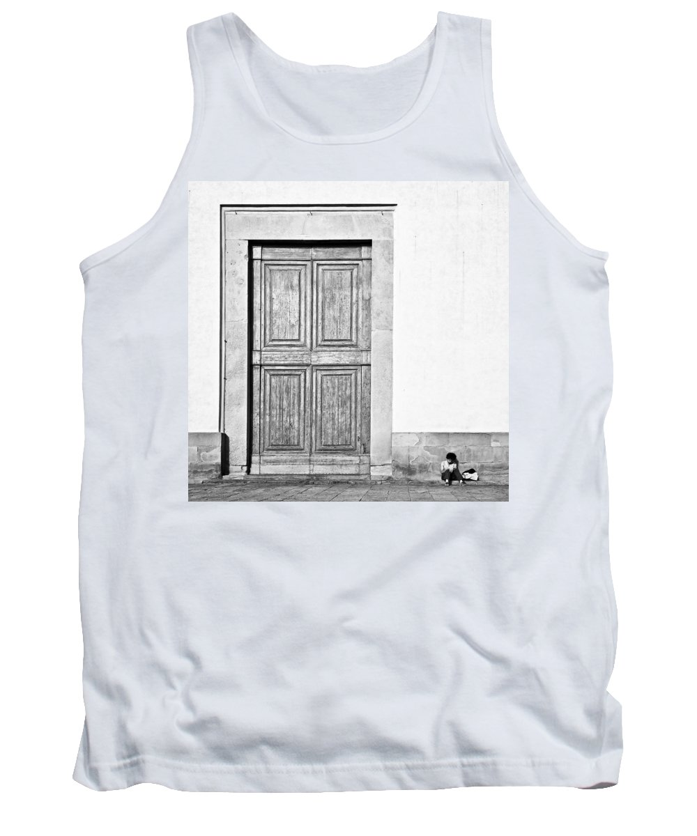 Door Tank Top featuring the photograph Land Of The Giants by Dave Bowman