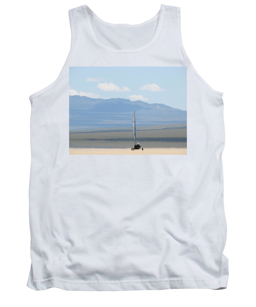 Tank Top featuring the photograph Landsailing Too by Kelly Mezzapelle