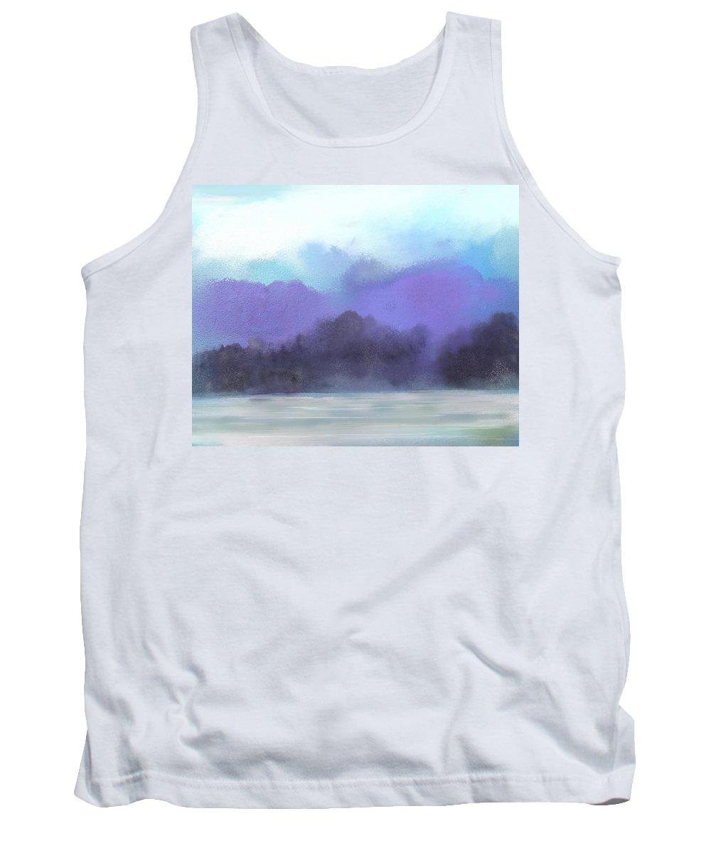 Digital Painting Tank Top featuring the digital art Landscape 02-19-10 by David Lane