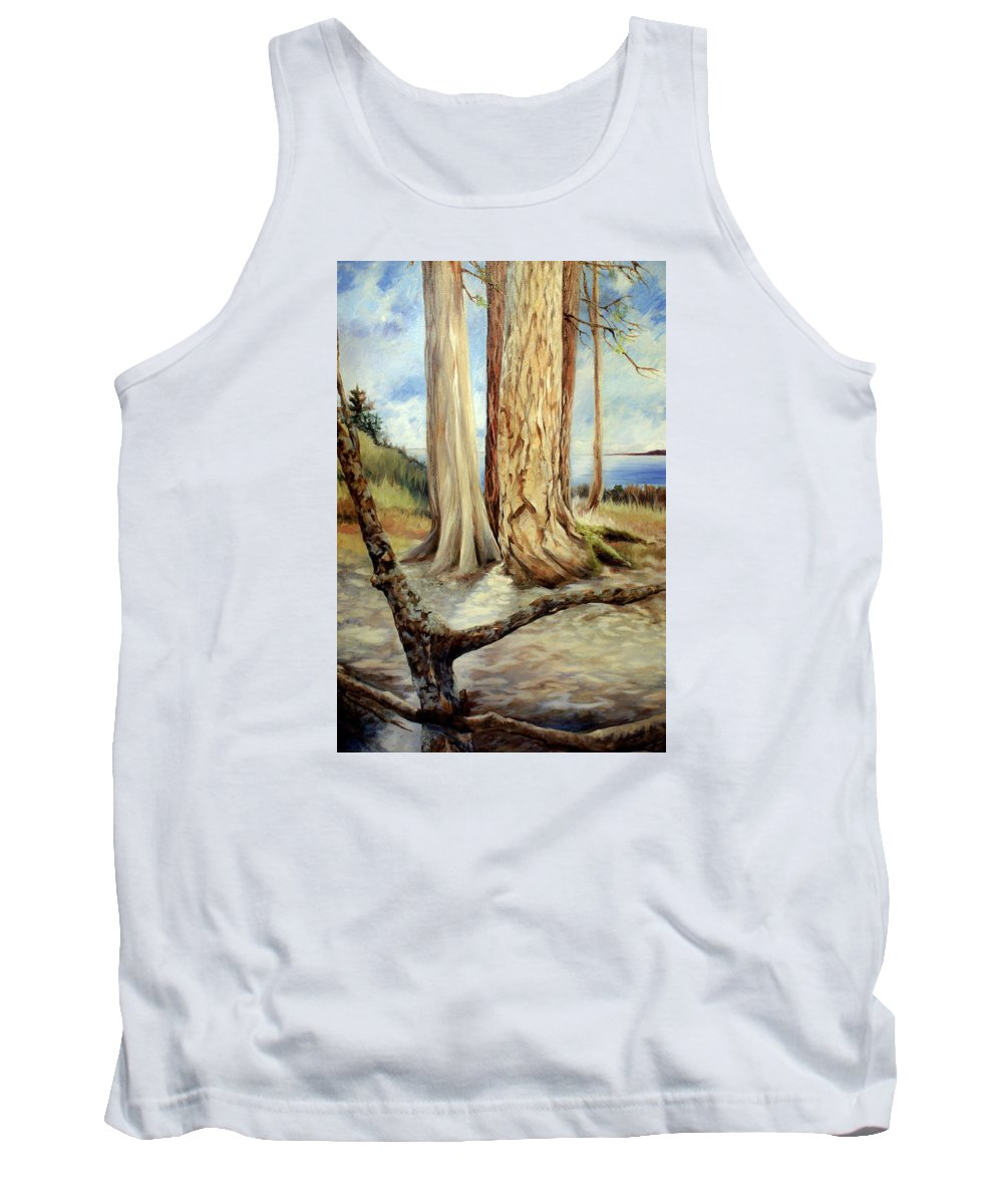 Landscape Painting With Trees Tank Top featuring the painting Landscape 1 by Laura Ury