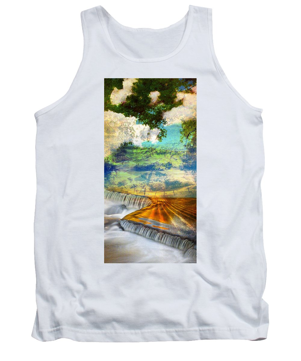 Tank Top featuring the painting Landscape by Maciej Mackiewicz