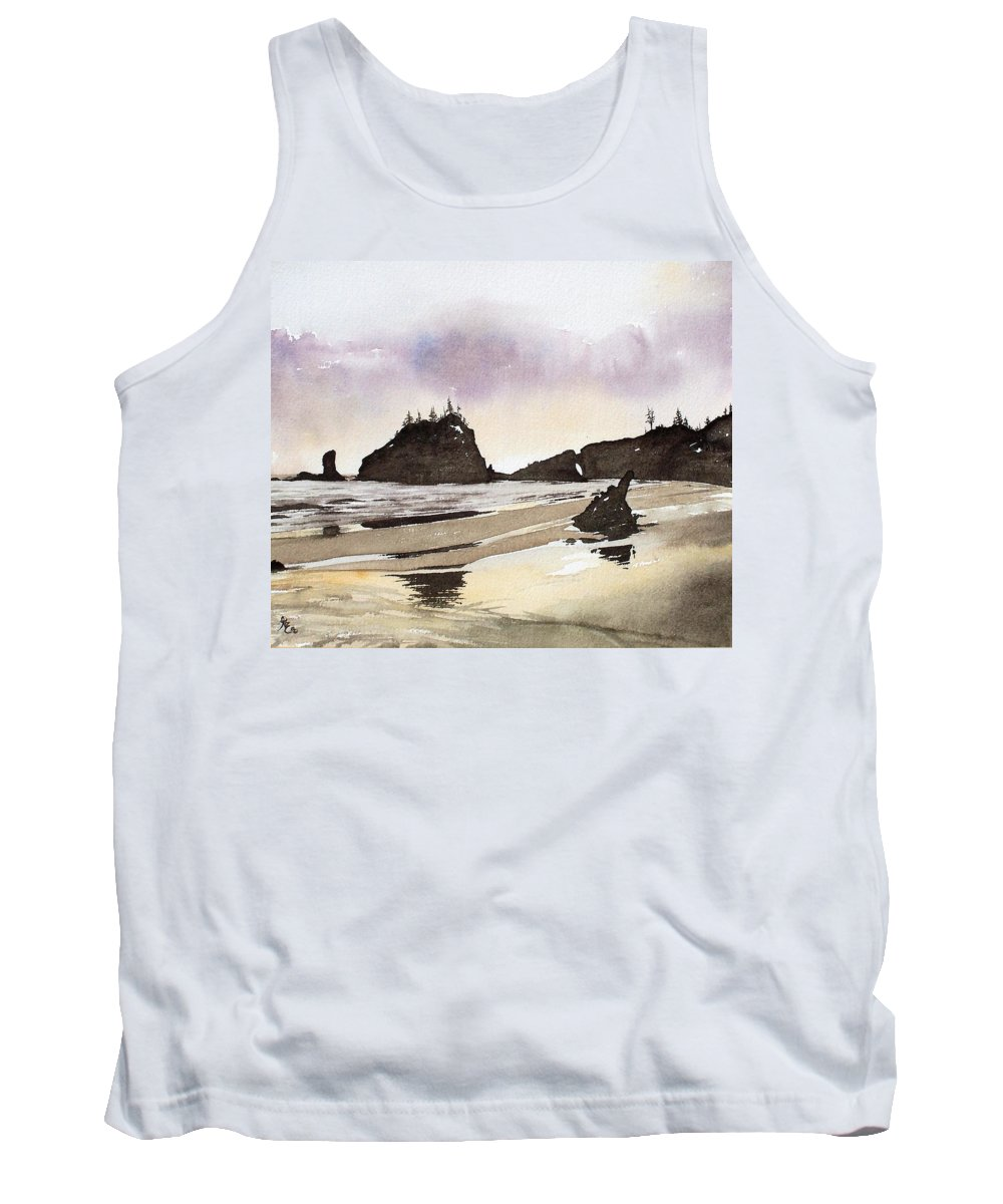 Washington Tank Top featuring the painting Lapush by Gale Cochran-Smith