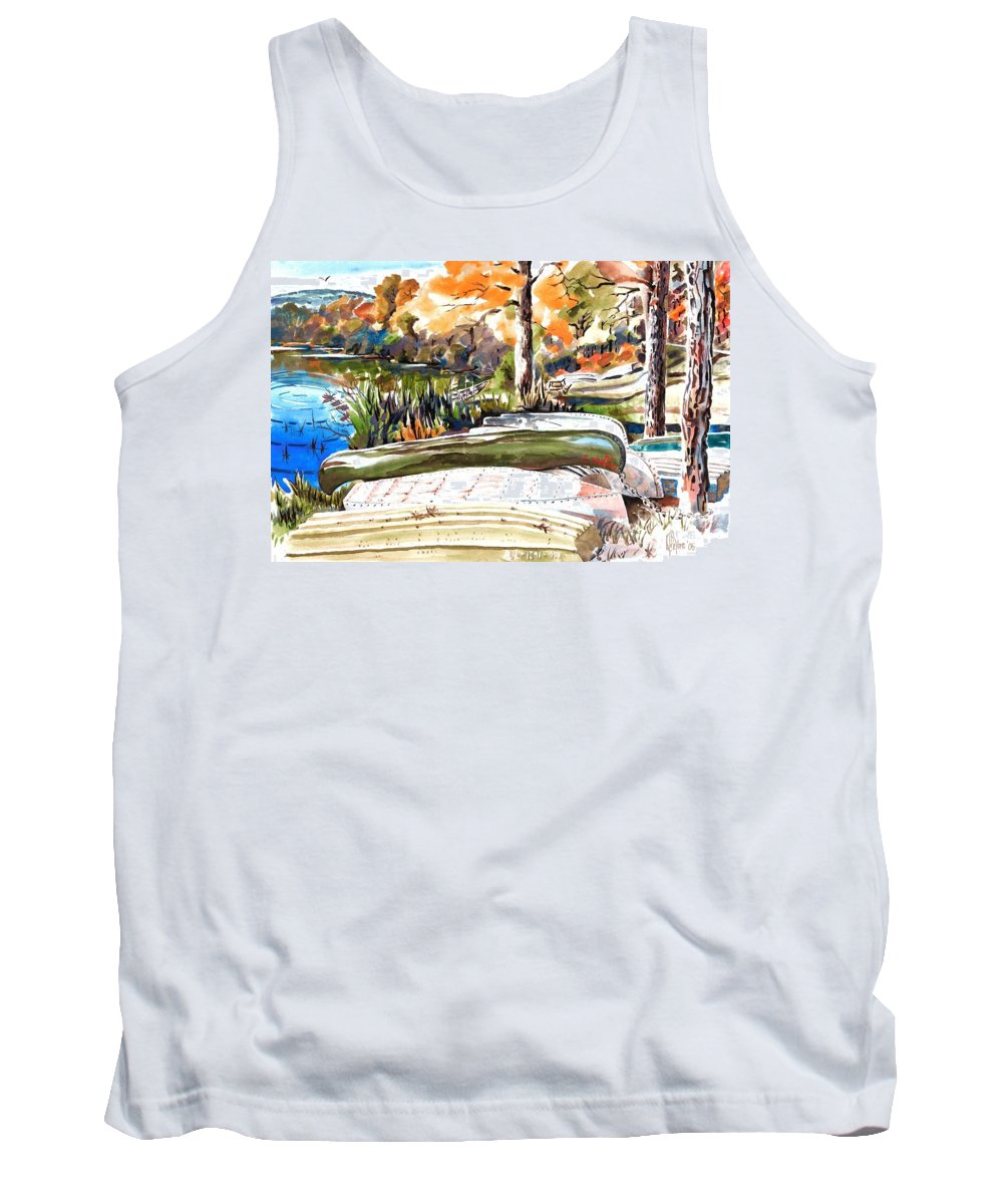 Last Summer In Brigadoon Tank Top featuring the painting Last Summer In Brigadoon by Kip DeVore