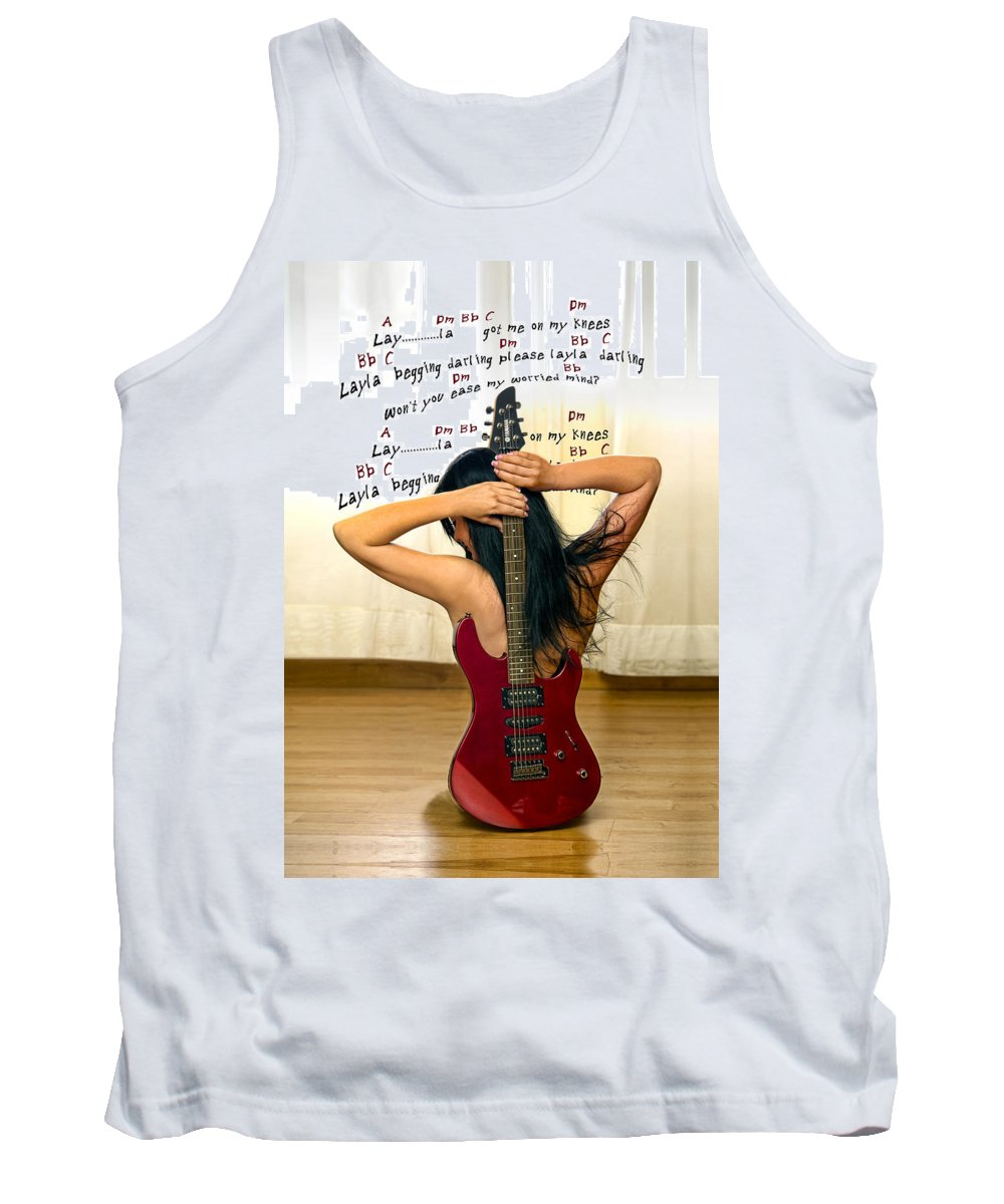 Electric Guitar Tank Top featuring the photograph Layla by Donovan Torres